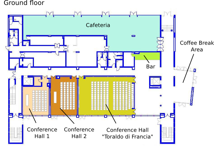 Congress Center Map - Ground floor