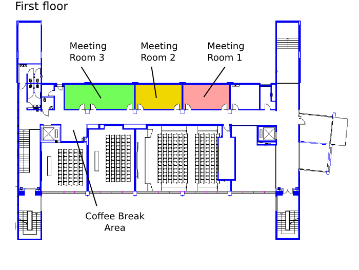 Congress Center Map - First floor